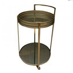 mesa bar dorada