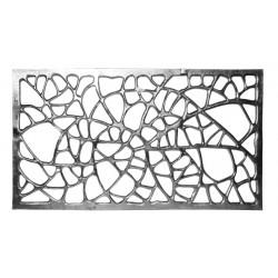 escultura de aluminio pared xl