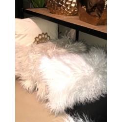 almohadon piel gris 50x30