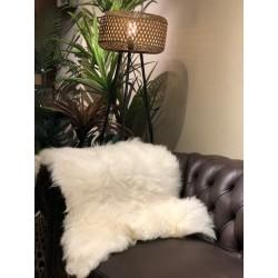 alfombra lanar blanco