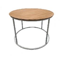 mesa circ madera white 60x40