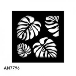 cuadro hojas  40x40x4