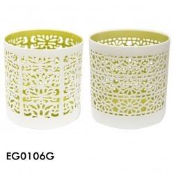 portavela ceramica green setx2