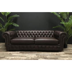 sofa chesterfield 220cm cuero