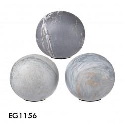 esferas marble gris matte set3