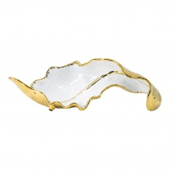 centro de mesa hoja white gold