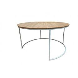 mesa circ tapa madera cano bco
