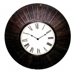 reloj de pared marco bamboo