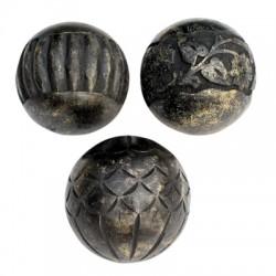 esferas mango wood set x3