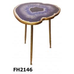 mesa de apoyo onix blue 50x60