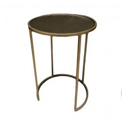 mesa auxiliar gold con espejo