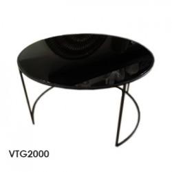 mesa circ vidrio black 90x50