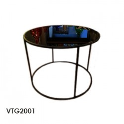 mesa circ vidrio black 60x40