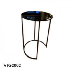mesa aux vidrio black 40x60