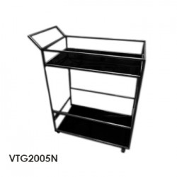 mesa rodante estructura negra