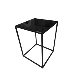 mesa de apoyo rect vidr black